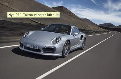 Porsche 911 Turbo ny måttstock för prestanda och effektivitet