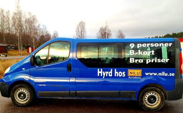 Hyr minibuss till bra pris – B-körkort räcker