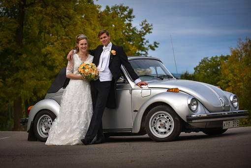 VW bubbla på bröllop