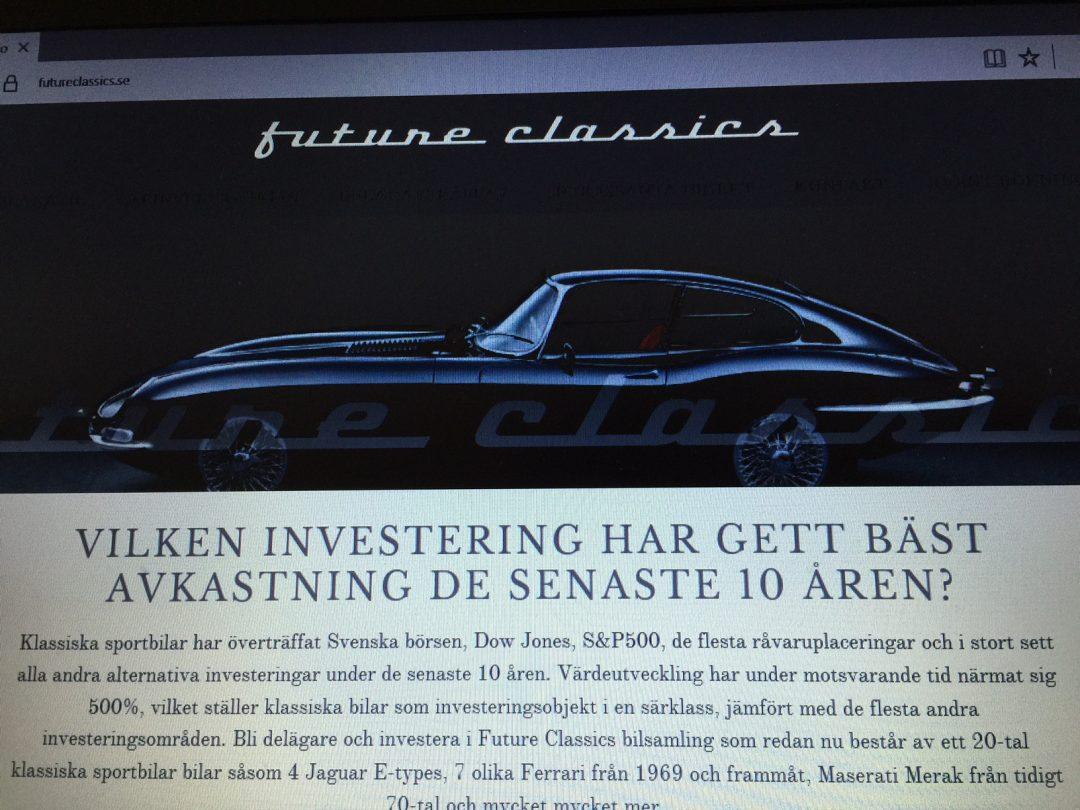 Sportbilsfonden Future Classics. Investera i veteranbilar