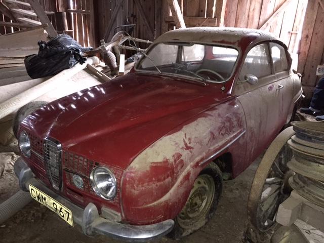 Ladugårdsfynd Saab 96 från 1964