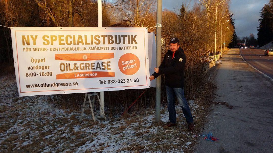 Succe´ för Oil and Grease Lagershop i Borås