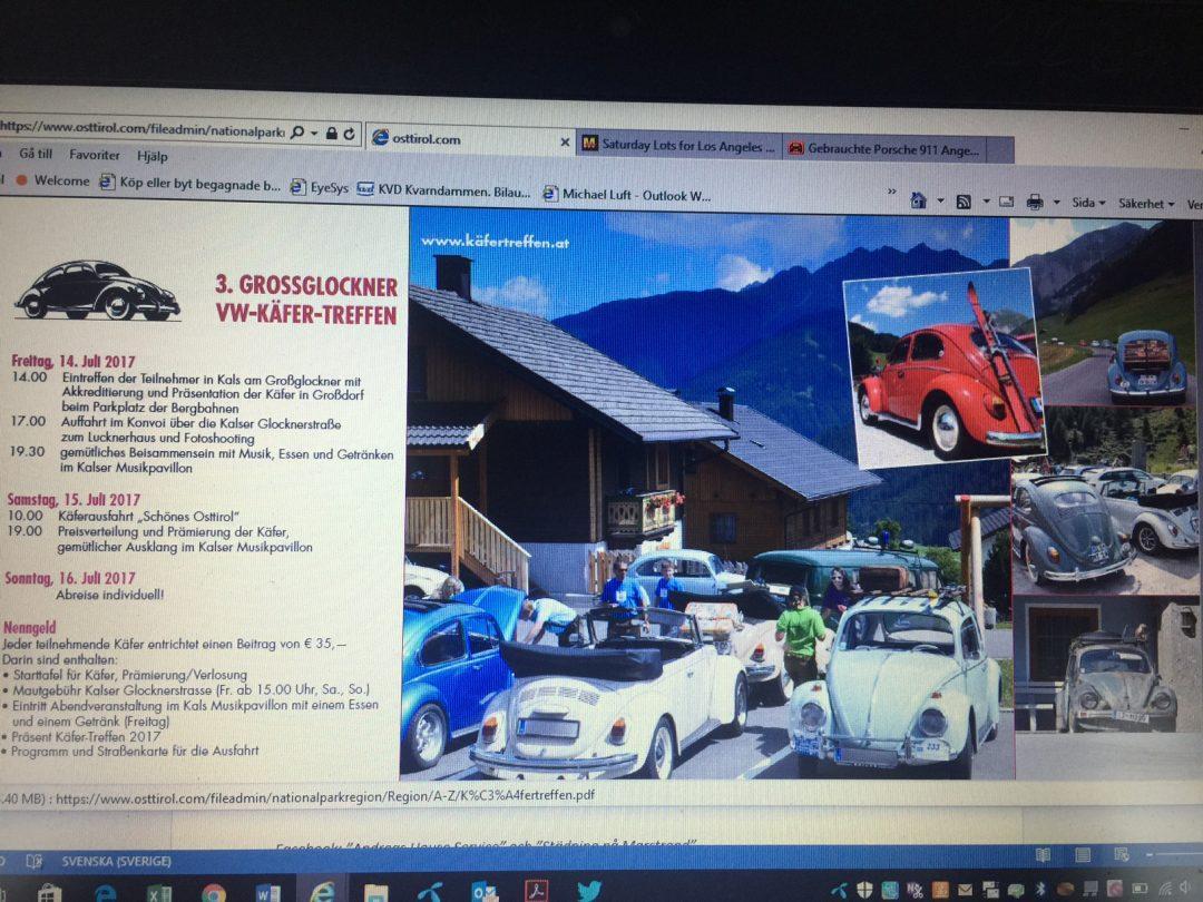 Följ med på VW-sommar-resa till Tyskland och Österrike 30 juni-16 juli 2017