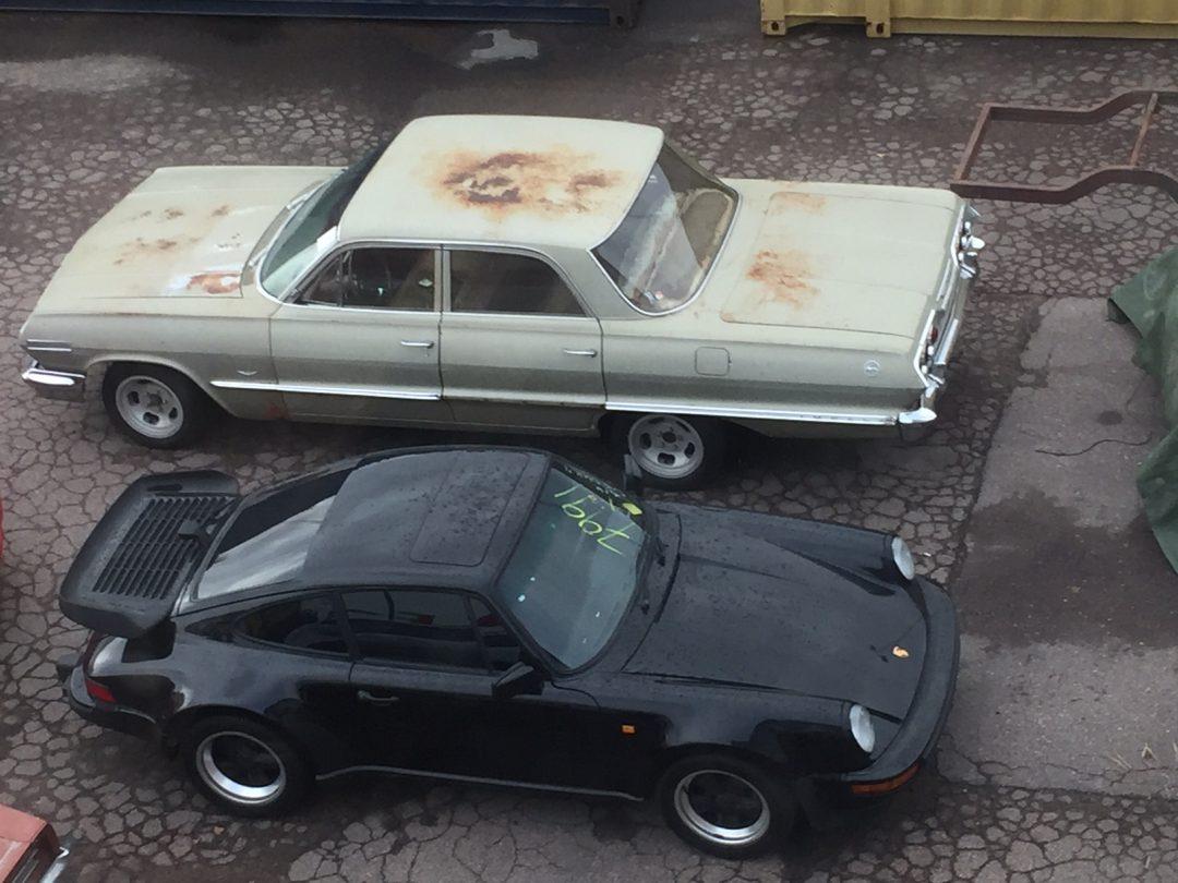 Porsche 911 Turbo 1985 på väg in
